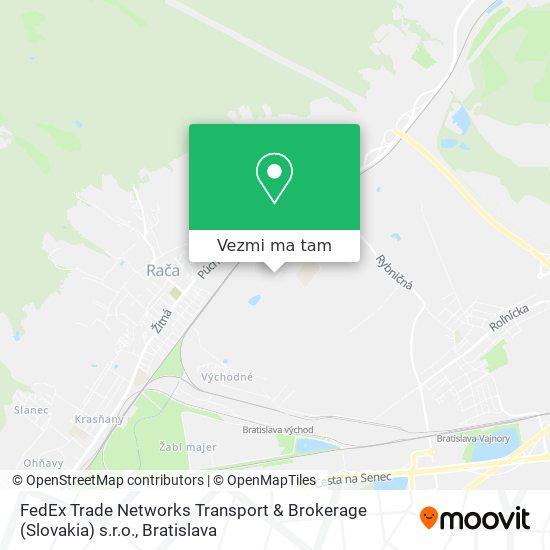 FedEx Trade Networks Transport & Brokerage (Slovakia) s.r.o. mapa