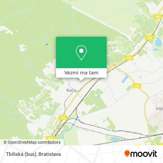 Tbiliská (bus) mapa