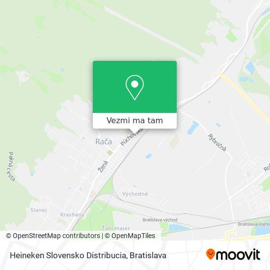 Heineken Slovensko Distribucia mapa