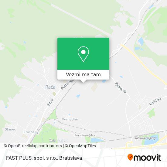 FAST PLUS, spol. s r.o. mapa