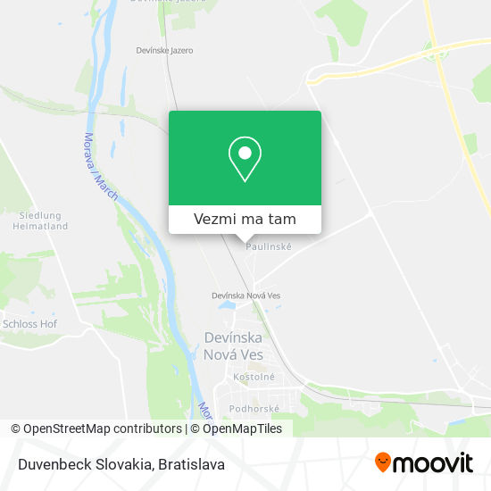 Duvenbeck Slovakia mapa