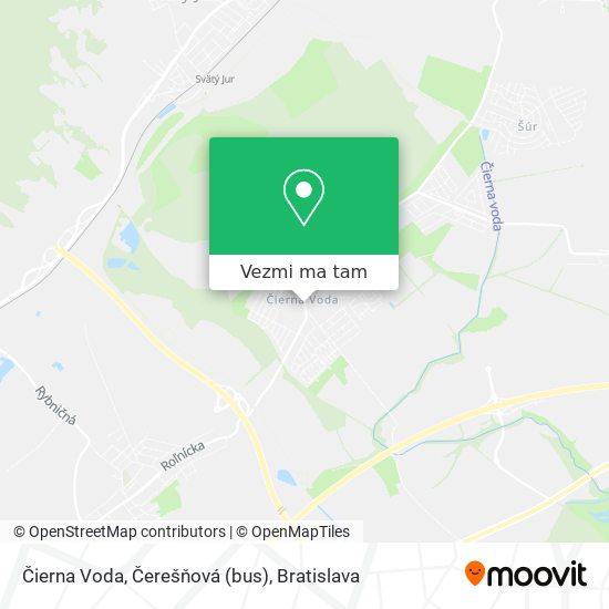 Čierna Voda, Čerešňová (bus) mapa