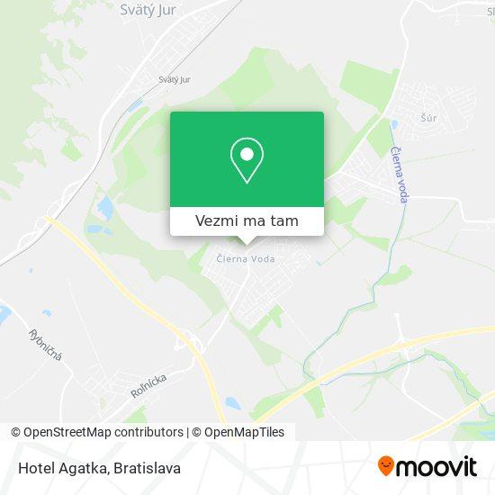 Hotel Agatka mapa