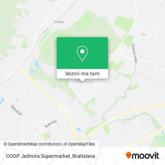 COOP Jednota Supermarket mapa