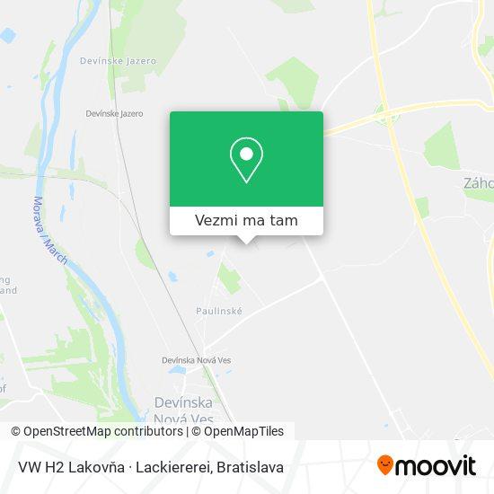 VW H2 Lakovňa · Lackiererei mapa