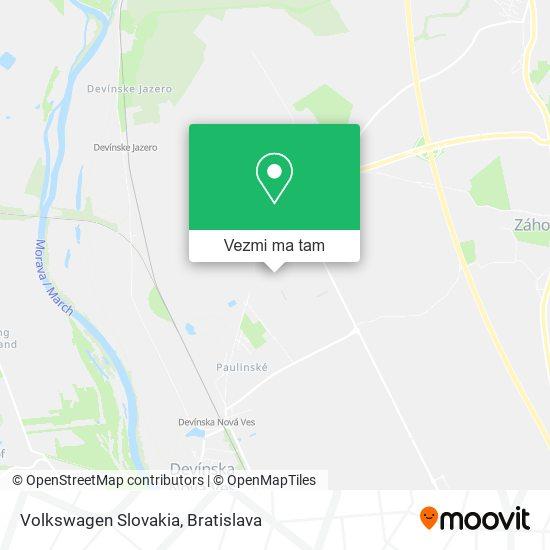 Volkswagen Slovakia mapa