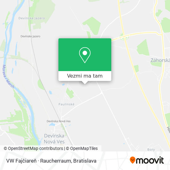 VW Fajčiareň · Raucherraum mapa