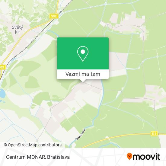 Centrum MONAR mapa
