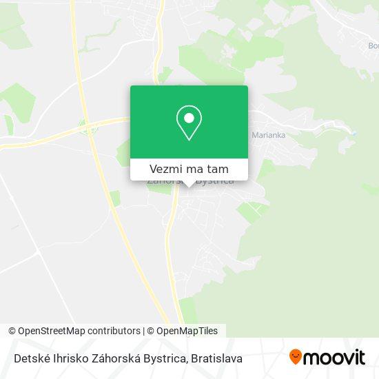 Detské Ihrisko Záhorská Bystrica mapa