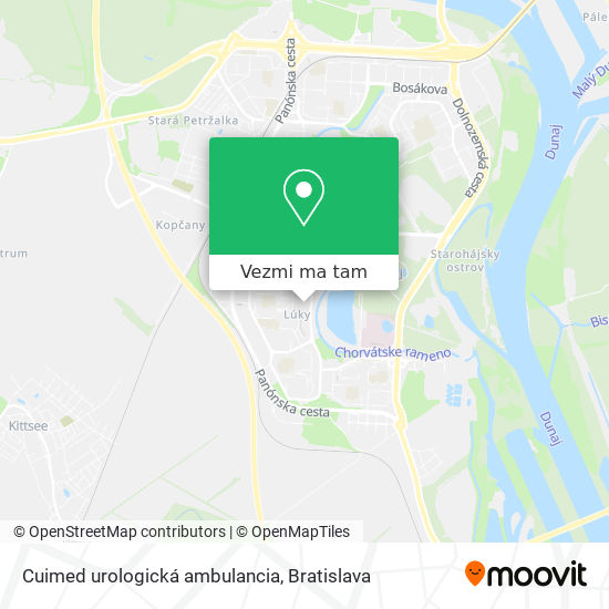 Cuimed urologická ambulancia mapa