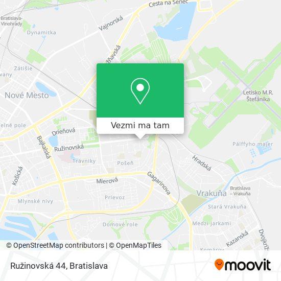 Ružinovská 44 mapa