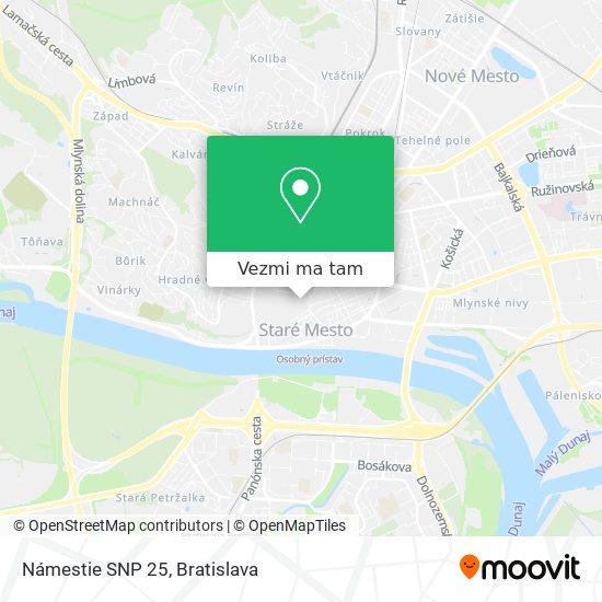 Námestie SNP 25 mapa