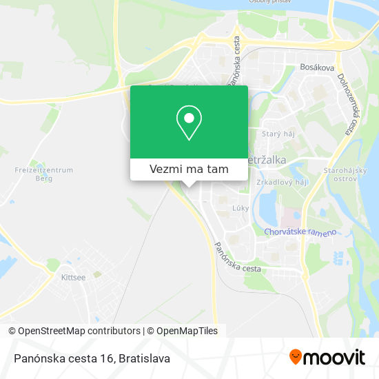 Panónska cesta 16 mapa