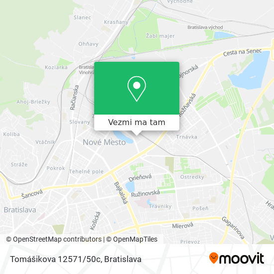 Tomášikova 12571/50c mapa