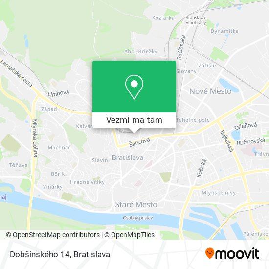 Dobšinského 14 mapa