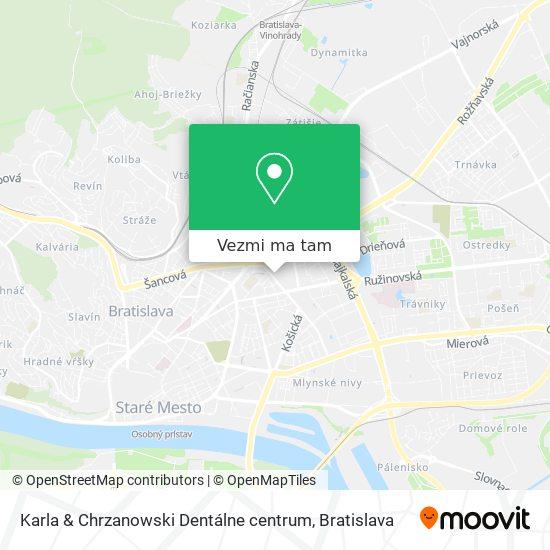 Karla & Chrzanowski Dentálne centrum mapa
