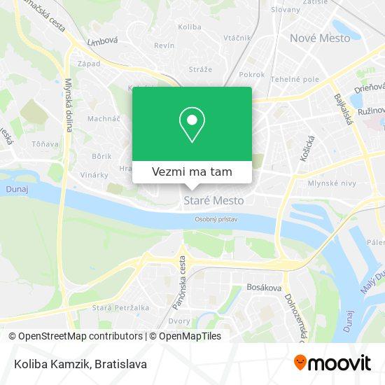 Koliba Kamzik mapa