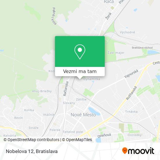 Nobelova 12 mapa
