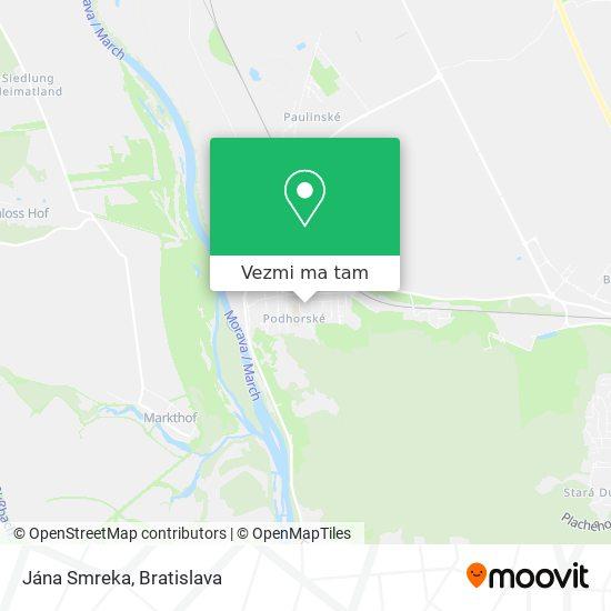 Jána Smreka mapa