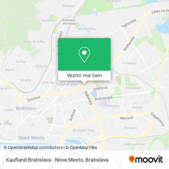 Kaufland Bratislava - Nove Mesto mapa