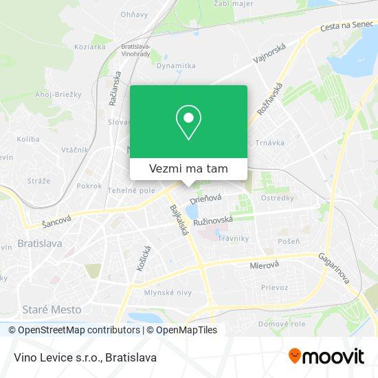 Vino Levice s.r.o. mapa