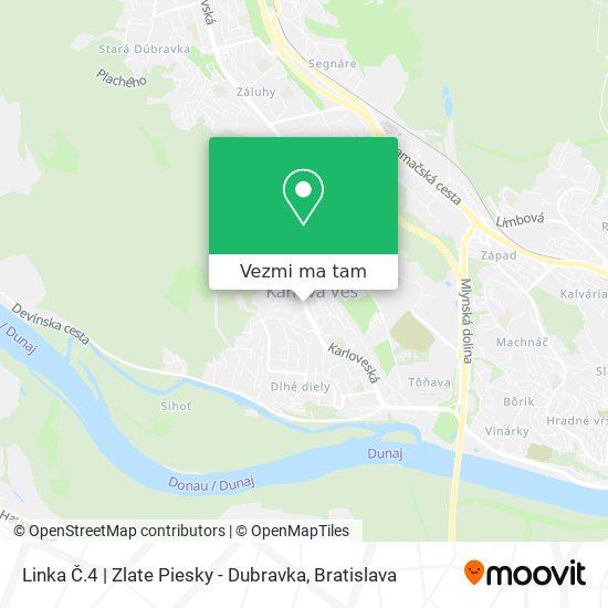Linka Č.4   Zlate Piesky - Dubravka mapa