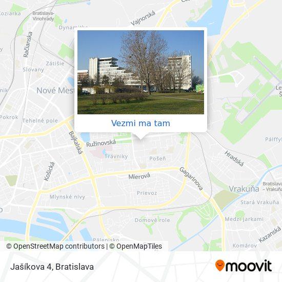 Jašíkova 4 mapa