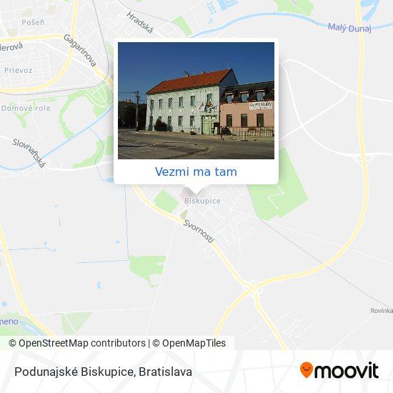 Podunajské Biskupice mapa