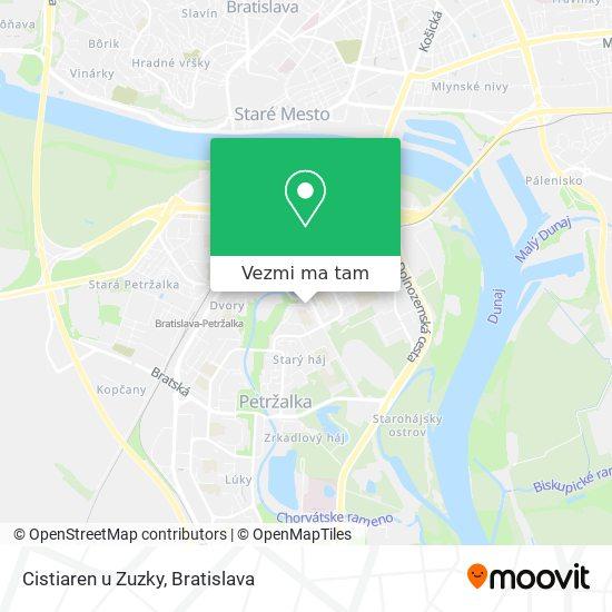 Cistiaren u Zuzky mapa