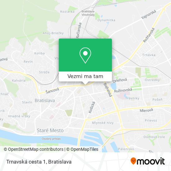 Trnavská cesta 1 mapa