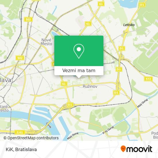 KiK mapa