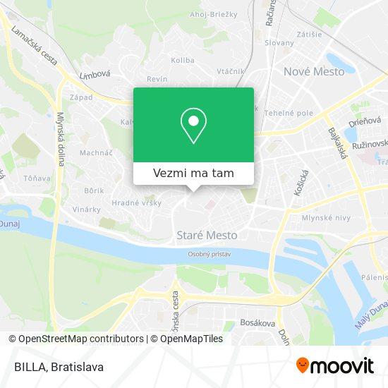 BILLA mapa