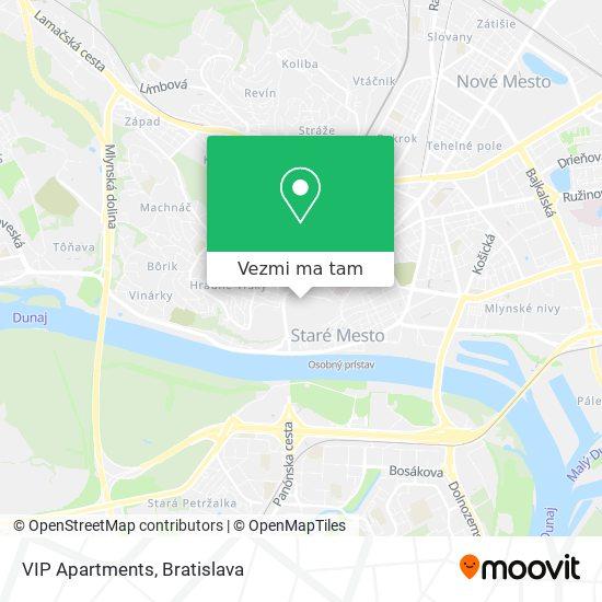 VIP Apartments mapa