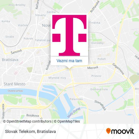 Slovak Telekom mapa