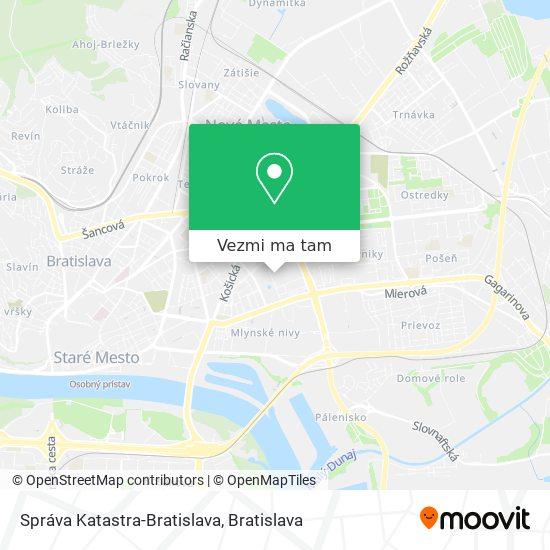Správa Katastra-Bratislava mapa