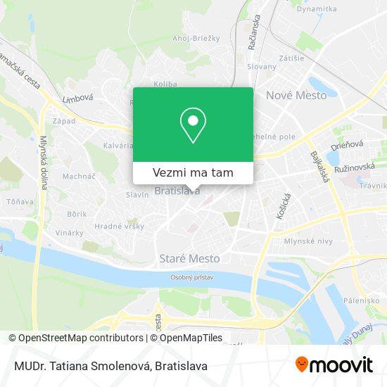 MUDr. Tatiana Smolenová mapa