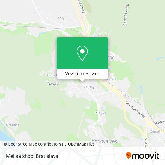 Melisa shop mapa