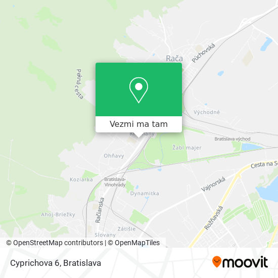 Cyprichova 6 mapa