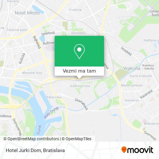 Hotel Jurki Dom mapa