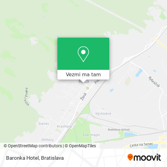 Baronka Hotel mapa