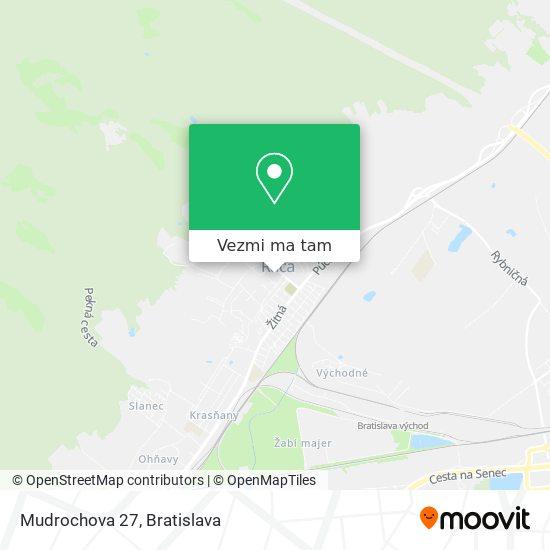 Mudrochova 27 mapa