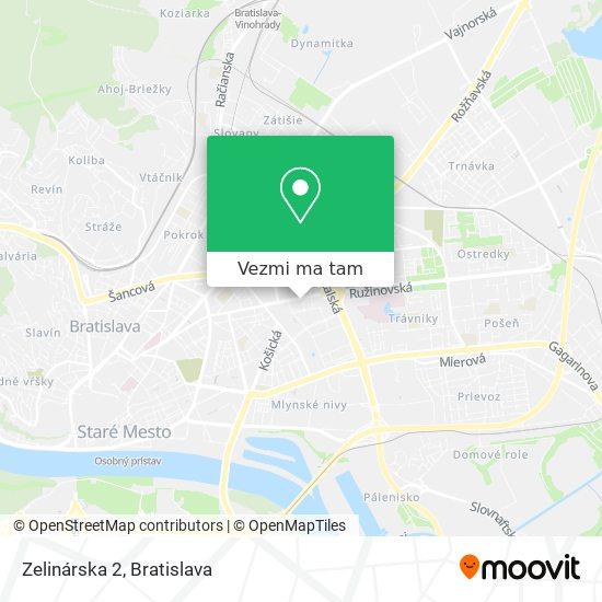 Zelinárska 2 mapa