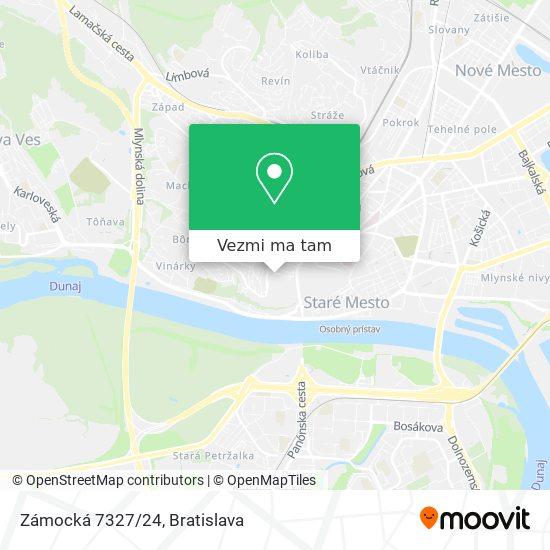 Zámocká 7327/24 mapa