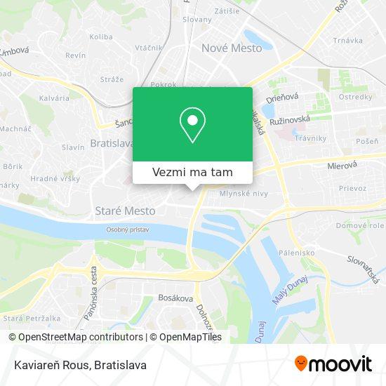 Kaviareň Rous mapa