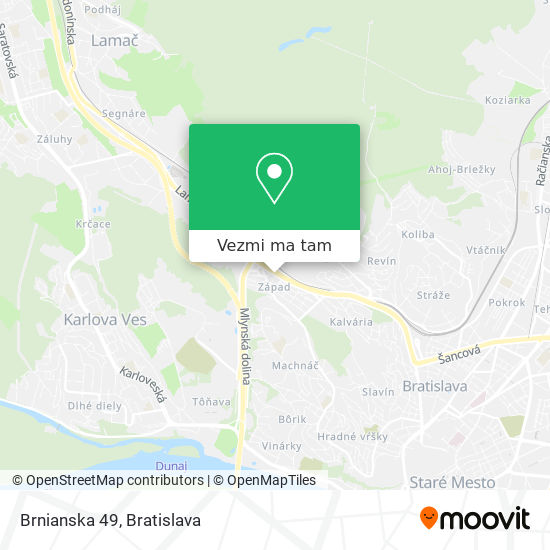 Brnianska 49 mapa
