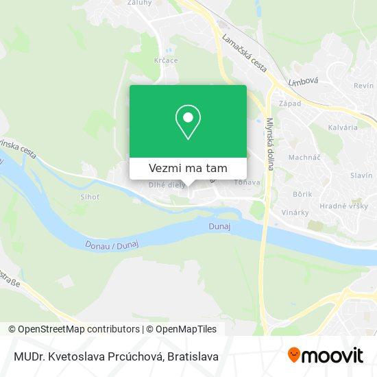 MUDr. Kvetoslava Prcúchová mapa