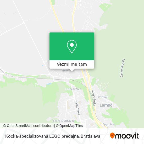 Kocka-špecializovaná LEGO predajňa mapa