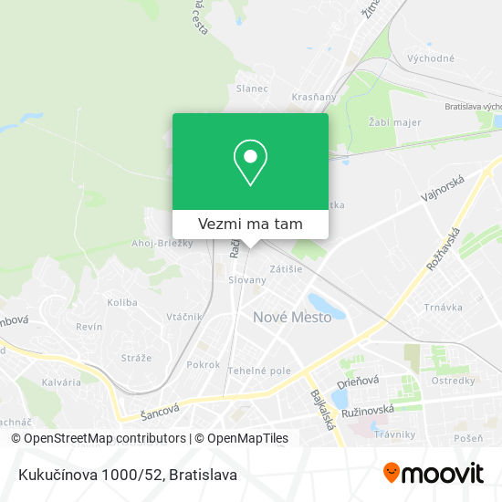 Kukučínova 1000/52 mapa