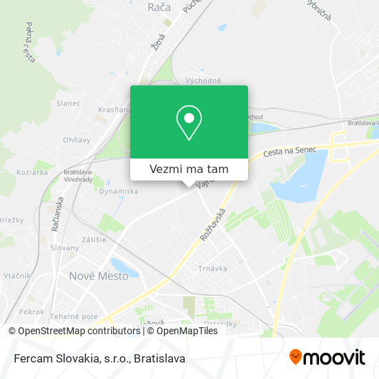 Fercam Slovakia, s.r.o. mapa
