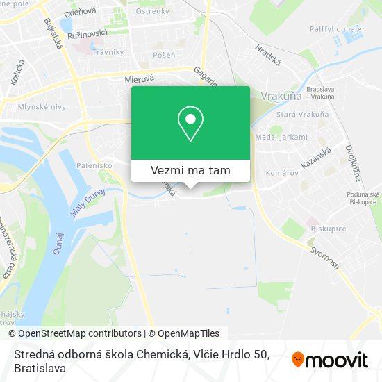 Stredná odborná škola Chemická, Vlčie Hrdlo 50 mapa